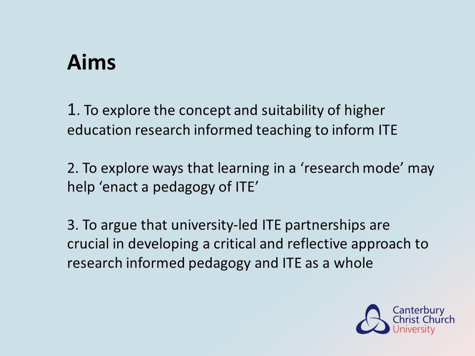 Enacting a pedagogy of teacher education 1.Making the tacit explicit...
