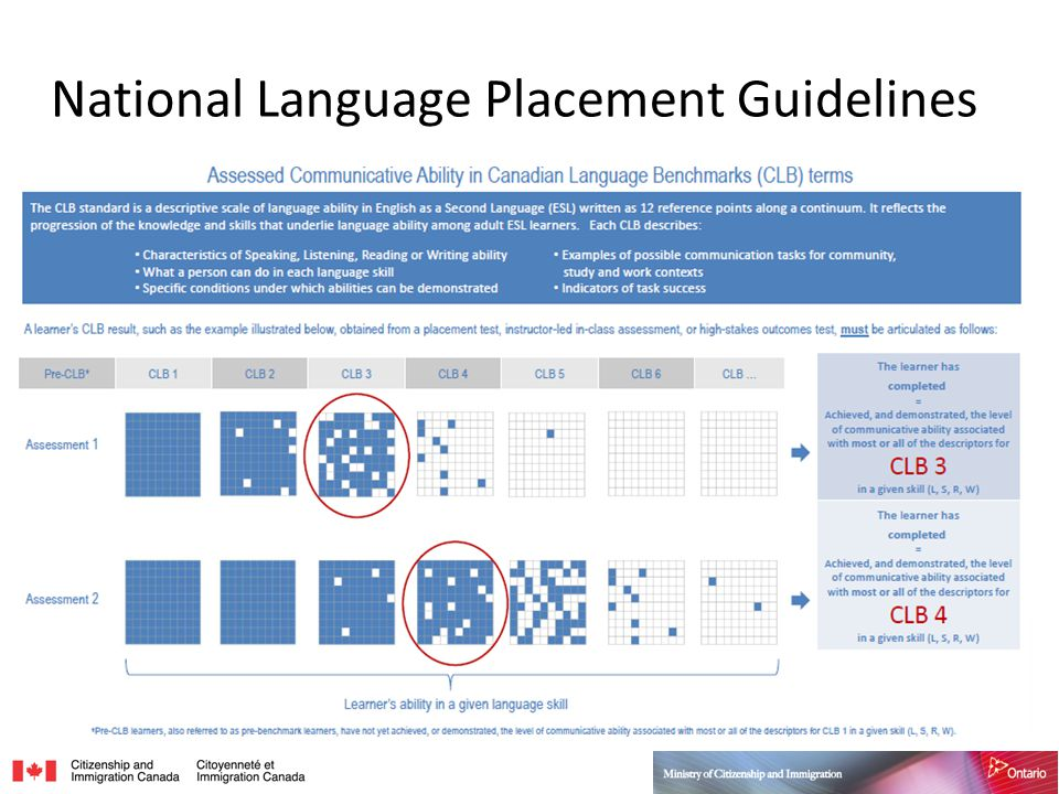 National Language Placement Guidelines