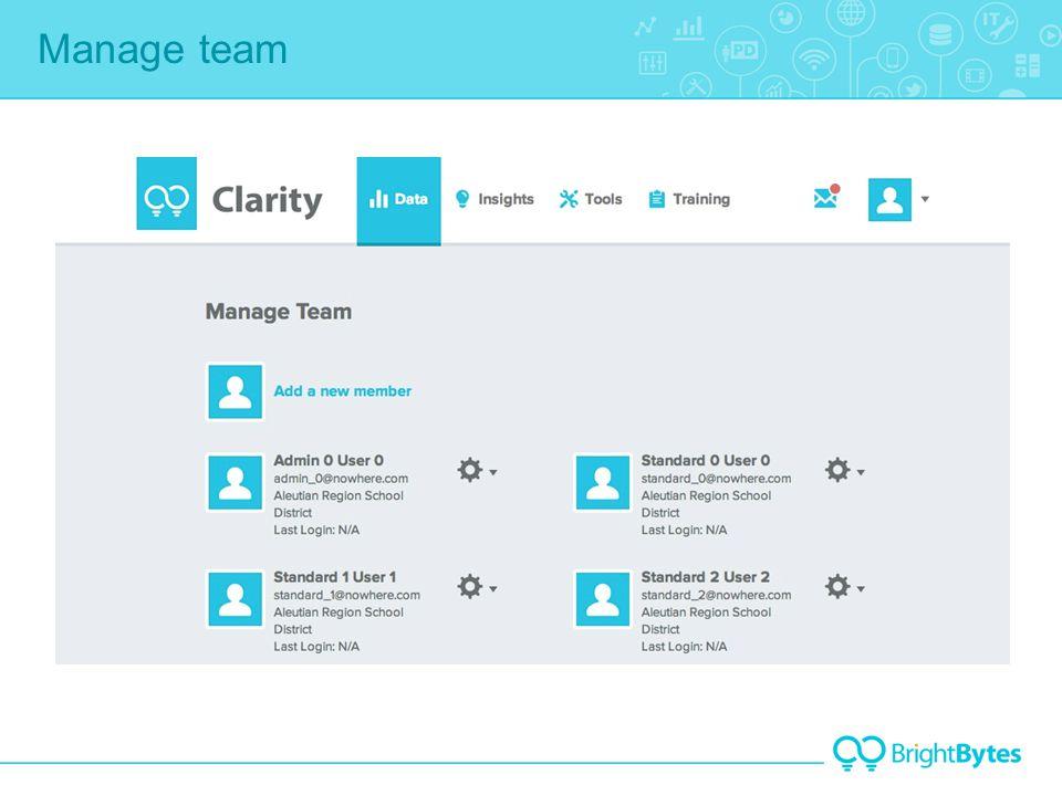 Manage team 1 2 3