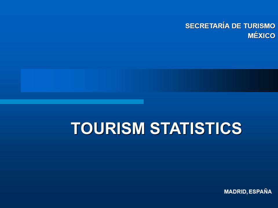 MADRID, ESPAÑA TOURISM STATISTICS SECRETARÍA DE TURISMO MÉXICO