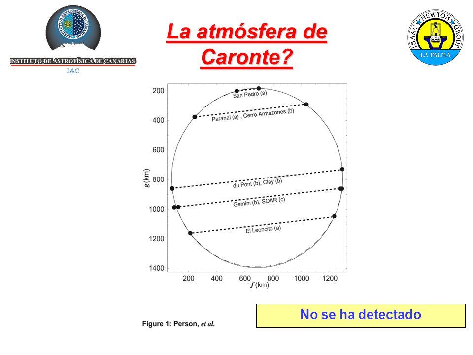 La atmósfera de Caronte No se ha detectado