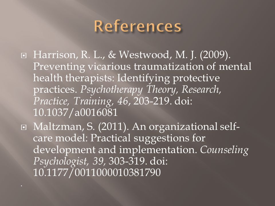  Harrison, R. L., & Westwood, M. J. (2009).