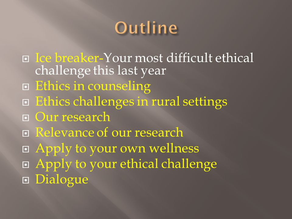  If there are ethical challenges in rural settings and research shows ethical errors occur, what might be the ethical challenges as reported by counseling practitioners in one rural state.
