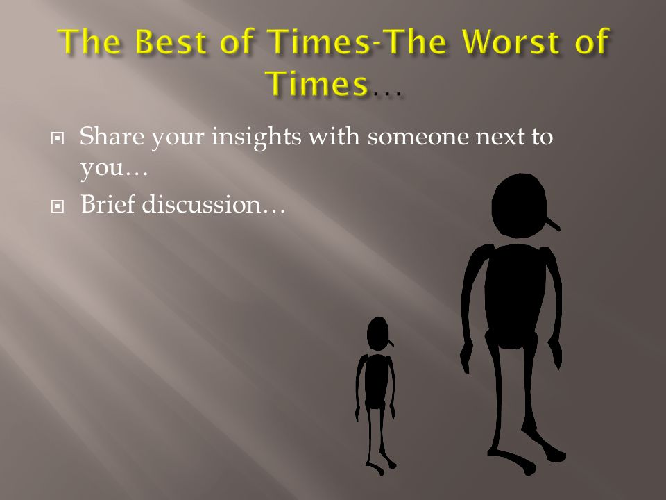  Share your insights with someone next to you…  Brief discussion…