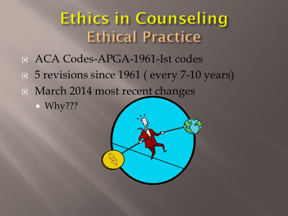 Three primary ethical training needs:  Boundaries (12%)  State Rules and Regulations (12%)  Supervision (10%) One respondent stated, I think in our state it is more difficult to maintain professional boundaries because of the closeness of our communities.