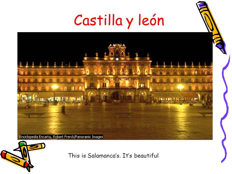 Castilla y león This is Salamanca's. It's beautiful