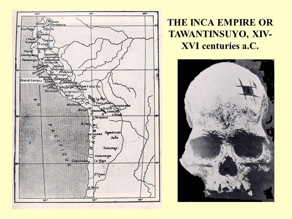 CIRURGICAL OPERATION OF SKULL AT PARACAS SOCIETY (1.000-800 B.C.)