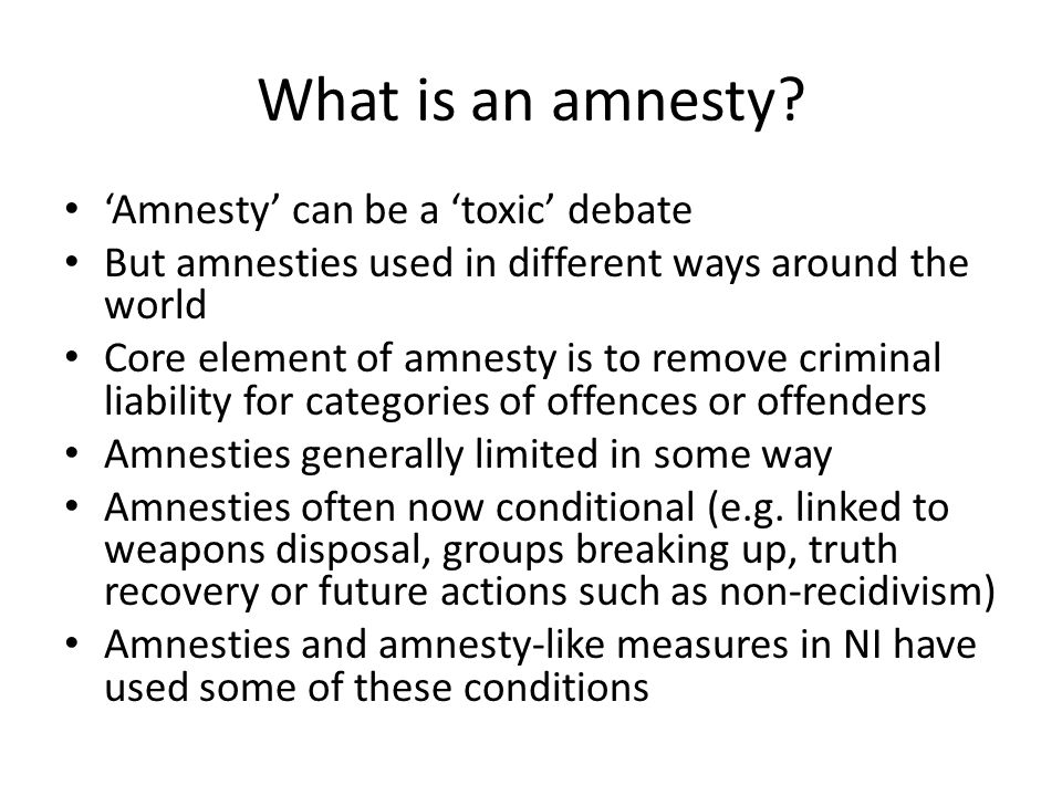 What is an amnesty.