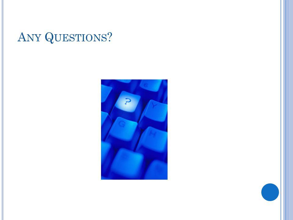 A NY Q UESTIONS