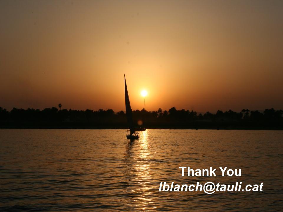 Thank You lblanch@tauli.cat
