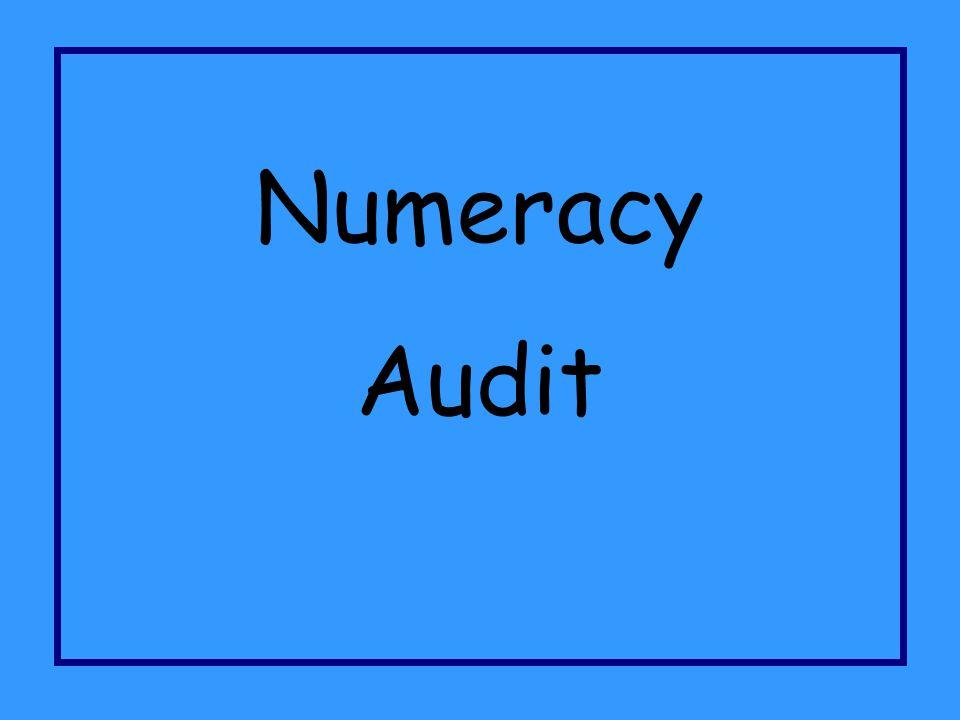 Numeracy Audit