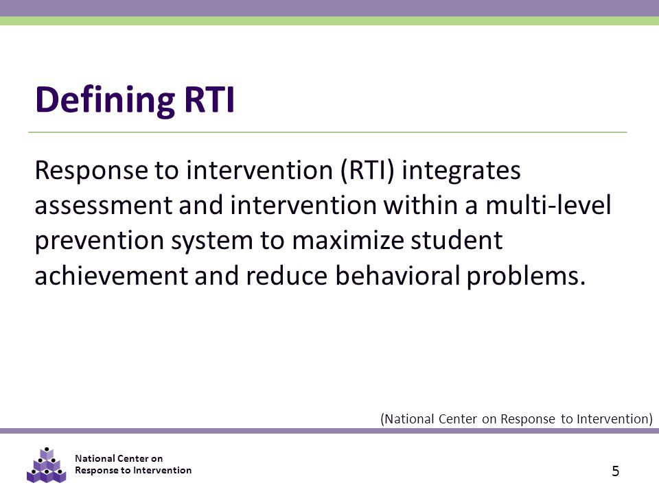 National Center on Response to Intervention Individual Data Shows a Lack of Response 16