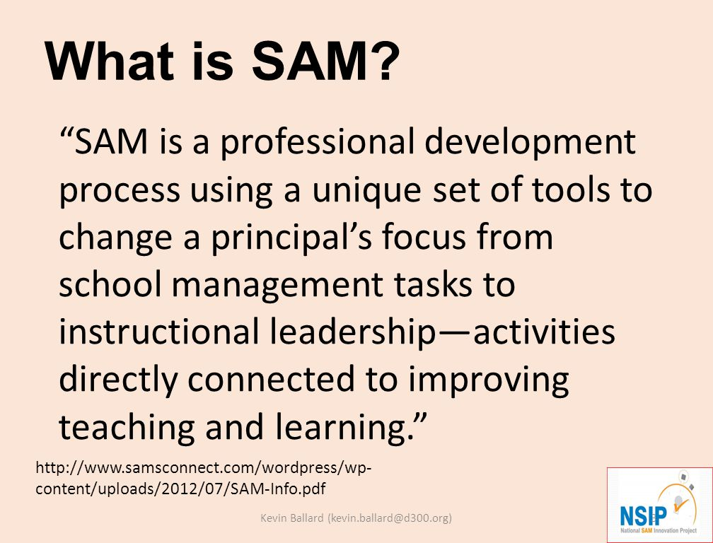 Primary Activities of SAM Teams Collect data Analyze data Use data What.
