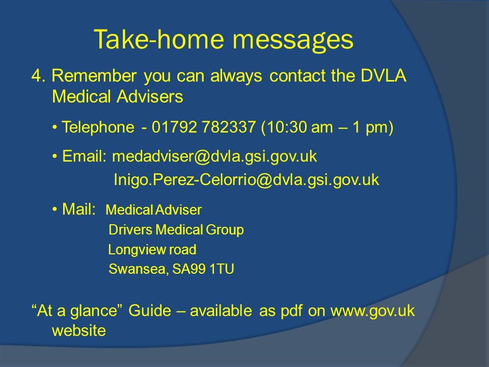 Take-home messages 4.