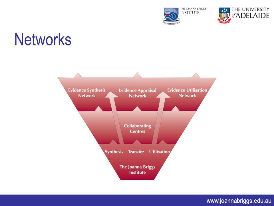 www.joannabriggs.edu.au Networks
