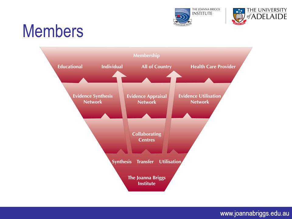 www.joannabriggs.edu.au Members