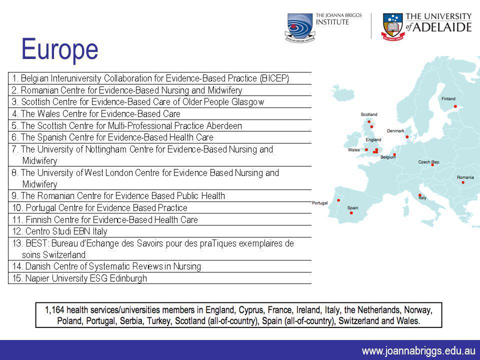 www.joannabriggs.edu.au Europe