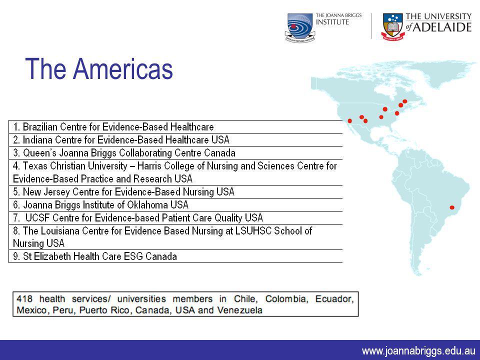 www.joannabriggs.edu.au The Americas