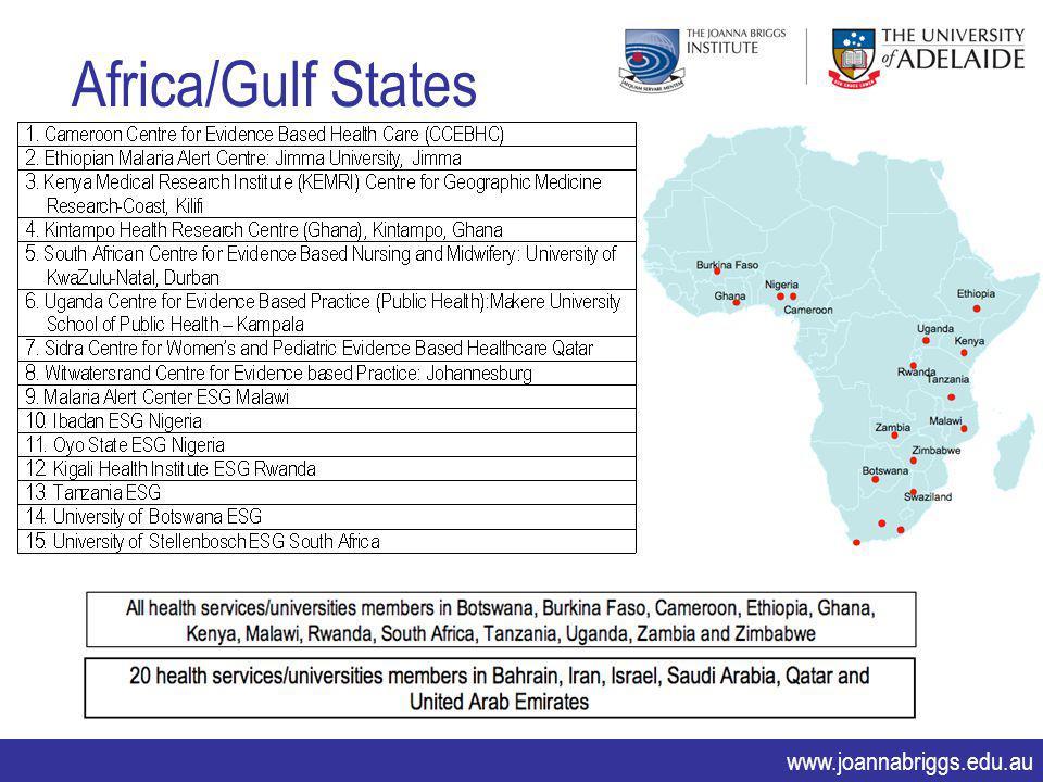 www.joannabriggs.edu.au Africa/Gulf States