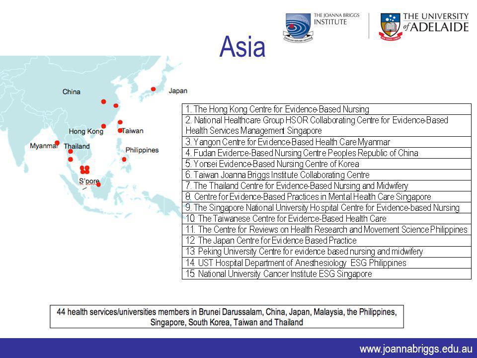 www.joannabriggs.edu.au Asia