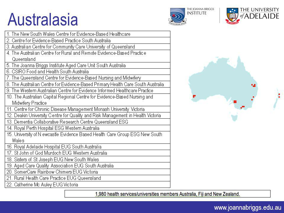 www.joannabriggs.edu.au Australasia