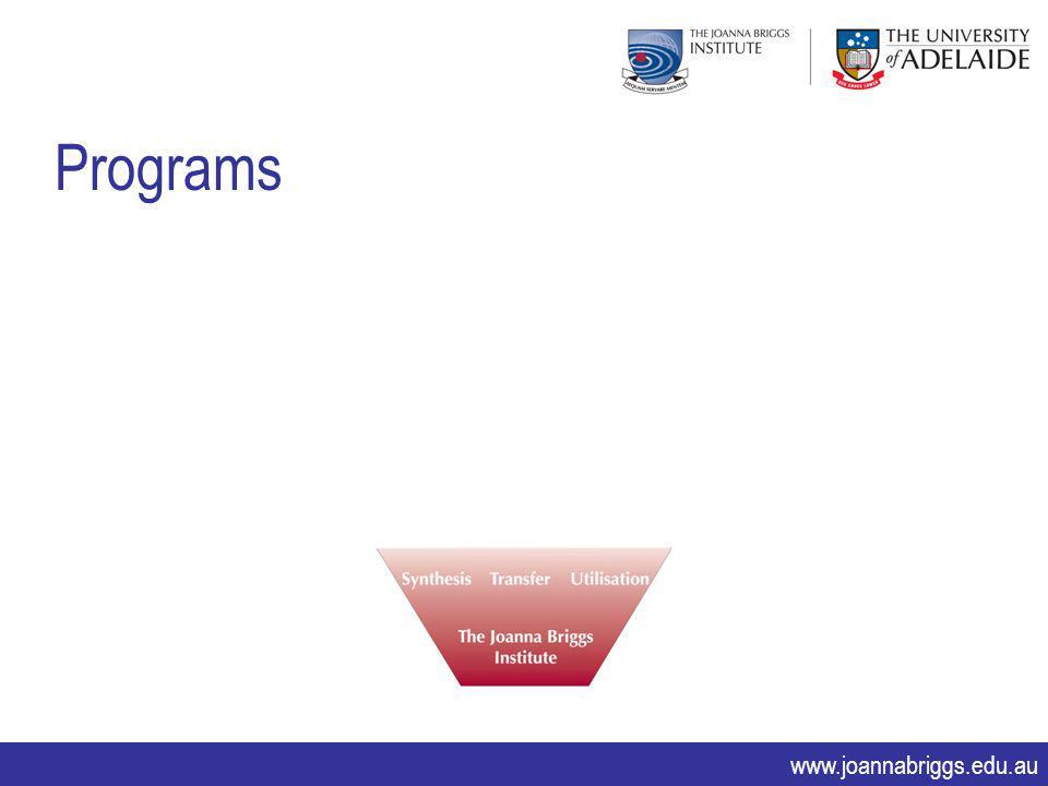 www.joannabriggs.edu.au Programs