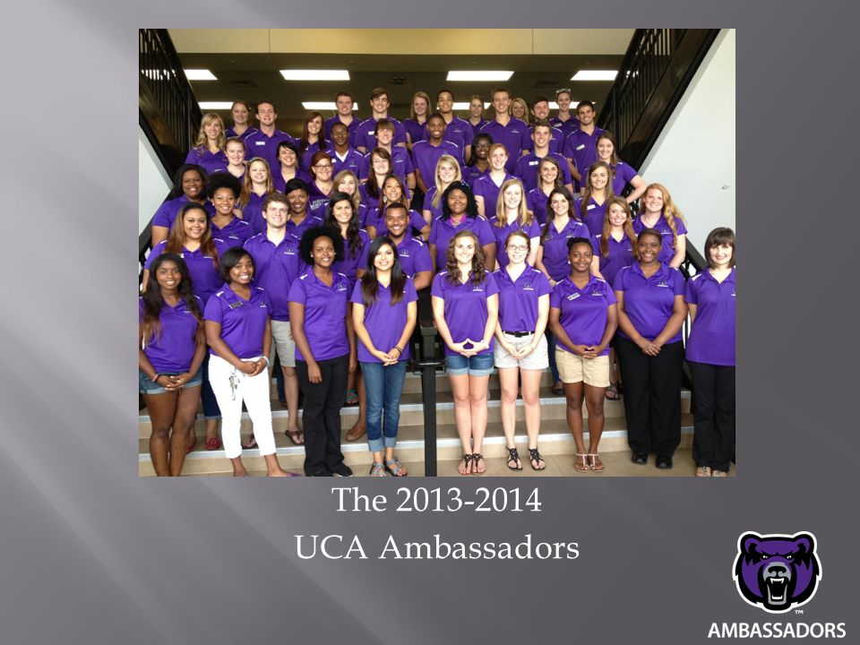 The 2013-2014 UCA Ambassadors