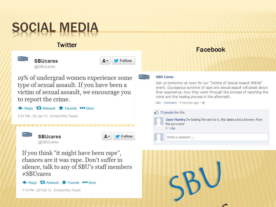 Twitter Facebook SBU Cares