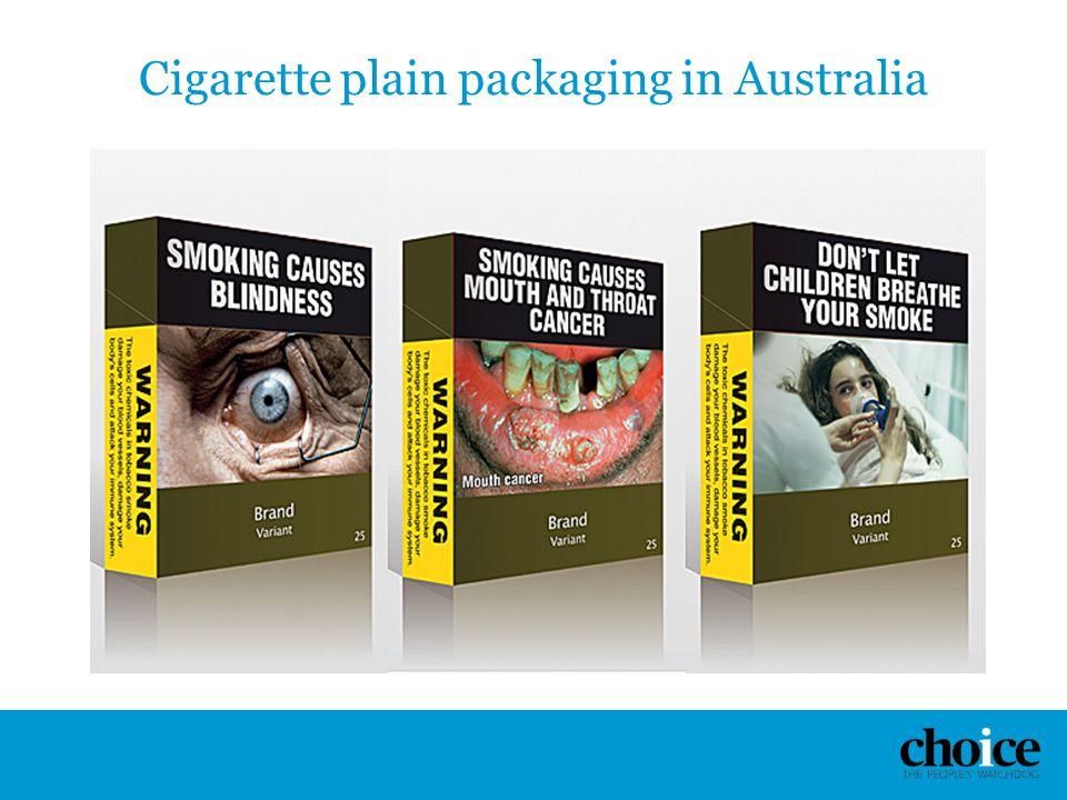 Cigarette plain packaging in Australia