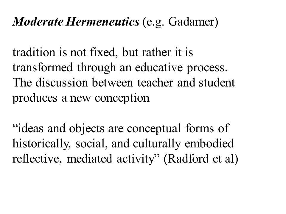 Critical Hermeneutics (e.g.