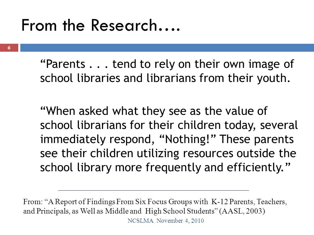 Reflections on Literature NCSLMA November 4, 2010 17