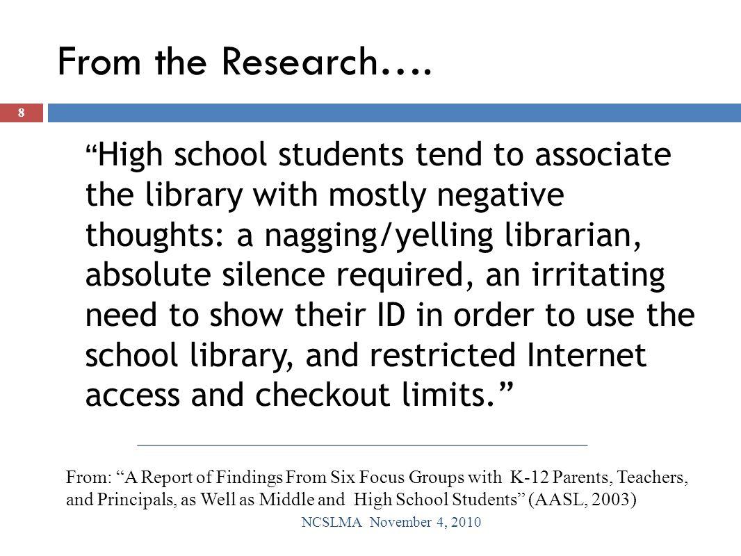 Student Book Selection NCSLMA November 4, 2010 29