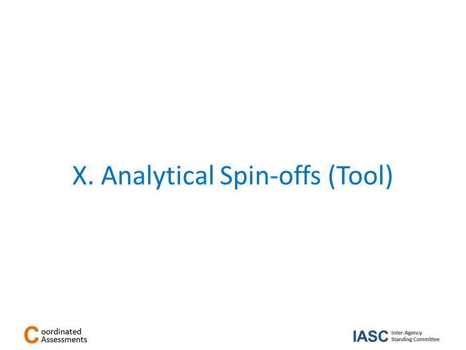 X. Analytical Spin-offs (Tool)