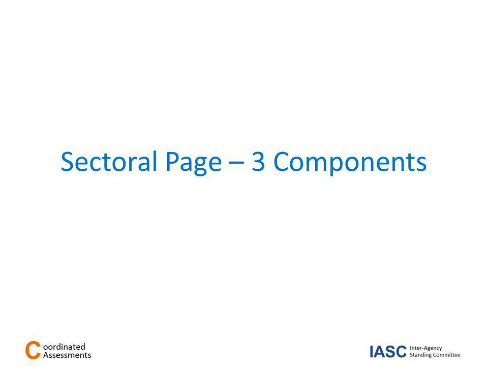 Sectoral Page – 3 Components