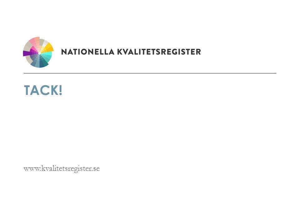 www.kvalitetsregister.se TACK!