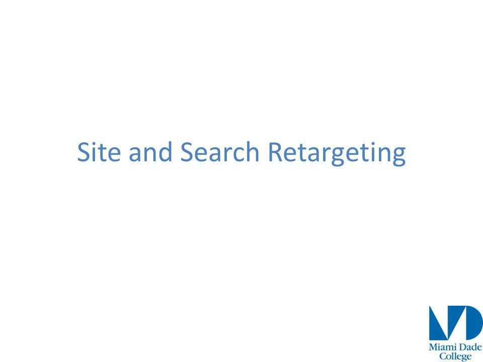Site and Search Retargeting