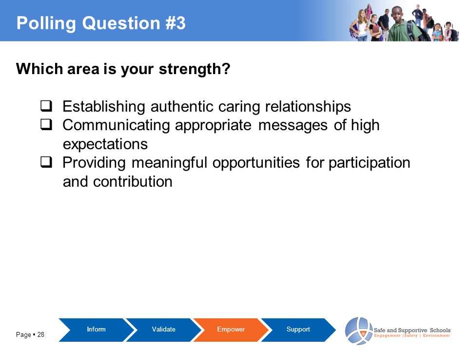 Polling Question #3 Page  28 Which area is your strength.