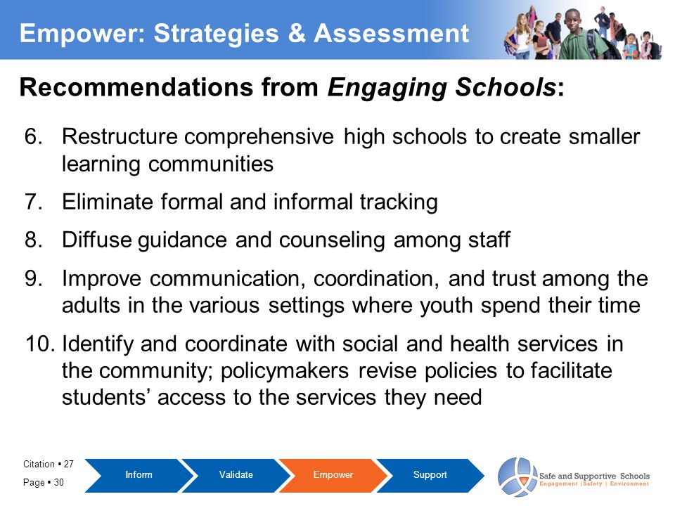Page  30 Empower: Strategies & Assessment 6.