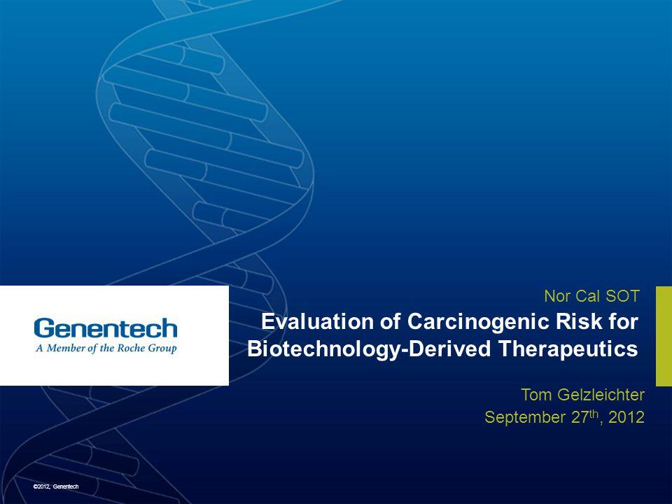 ©2012, Genentech 1.Limitations on utility of standard rodent bioassays for biologics 2.