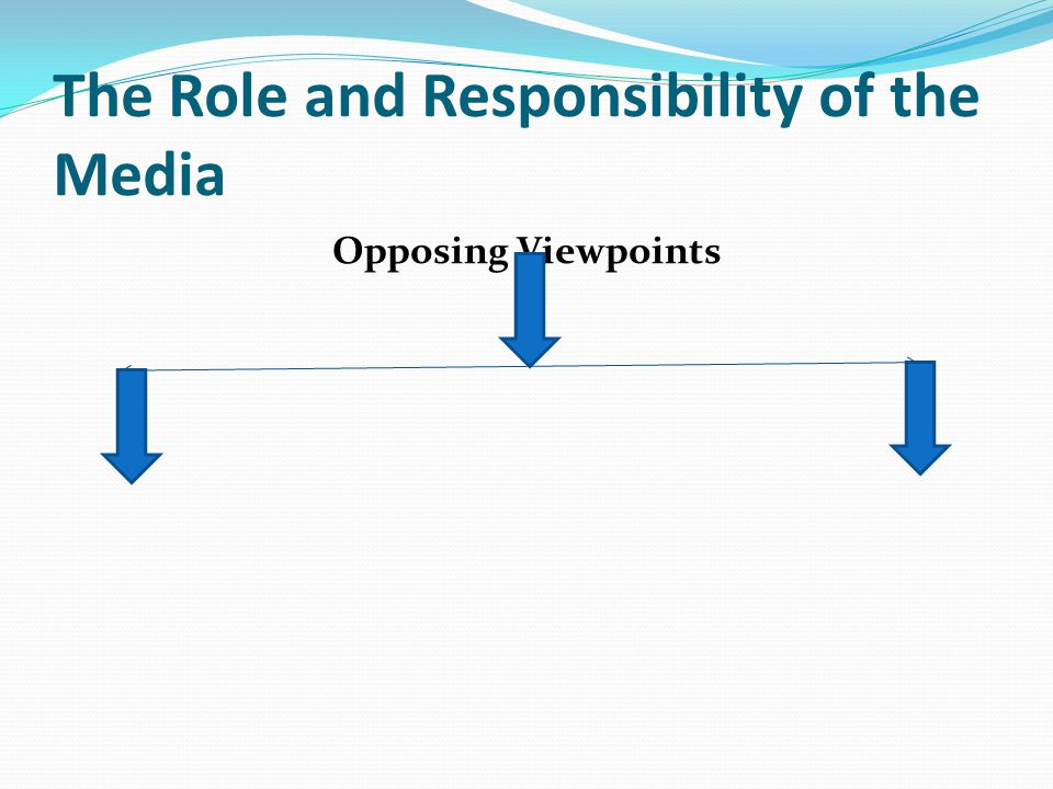 The Role and Responsibility of the Media Opposing Viewpoints
