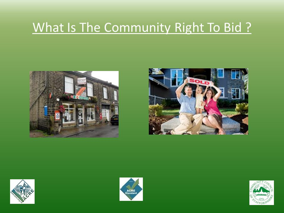 What Is The Community Right To Bid ?