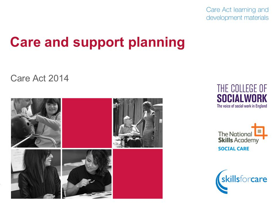 Care and support planning Care Act 2014