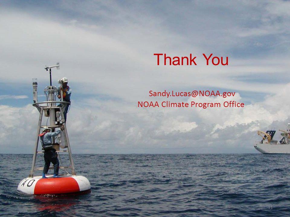 Thank You Sandy.Lucas@NOAA.gov NOAA Climate Program Office 11