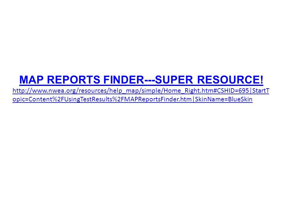 MAP REPORTS FINDER---SUPER RESOURCE.