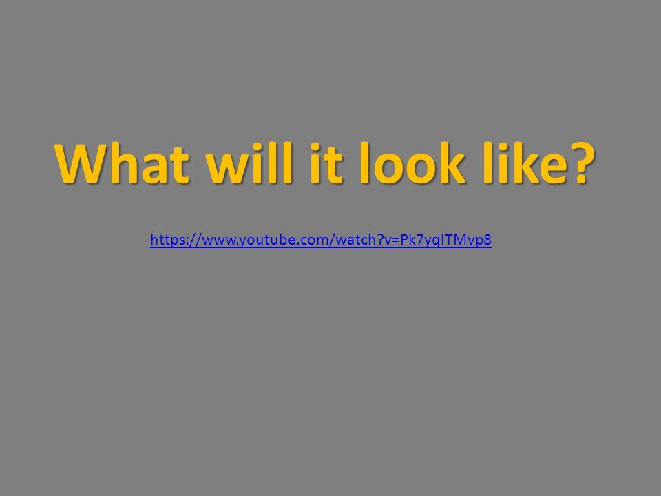 What will it look like https://www.youtube.com/watch v=Pk7yqlTMvp8