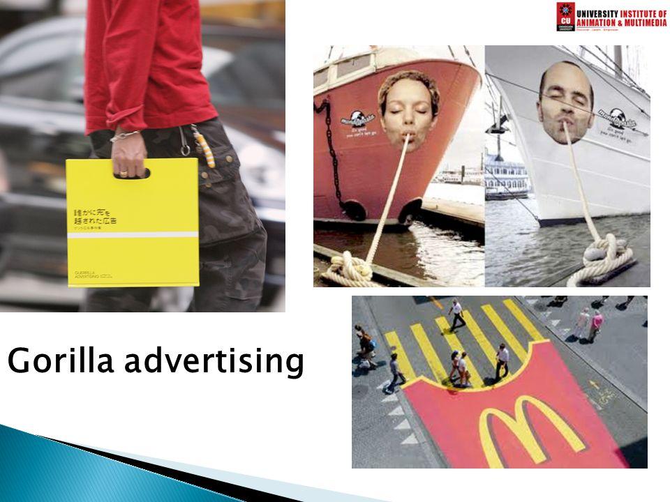 Gorilla advertising
