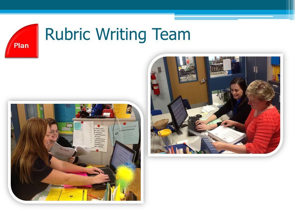 Rubric Writing Team Plan
