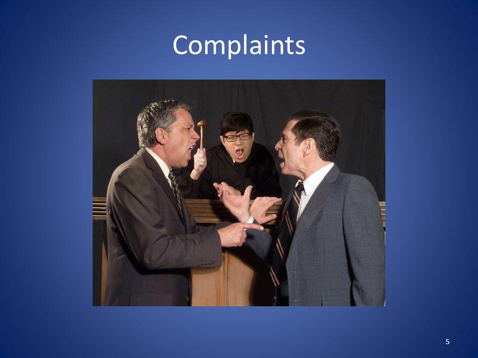 Complaints 5