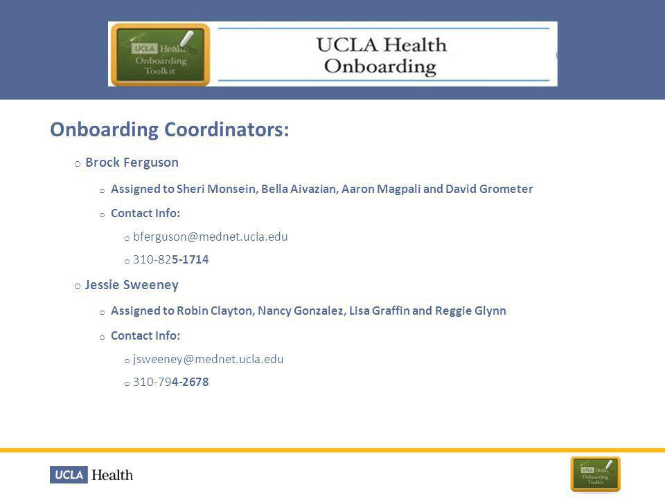 All new hires will begin their employment with UCLA Hospital System on a New Hire Orientation day Health System New Hire Orientations are now set three times per month Frequently Asked Questions Who is granting AD access.