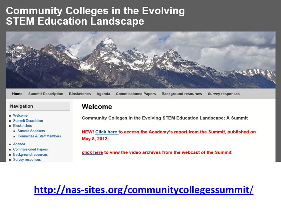 http://nas-sites.org/communitycollegessummit/